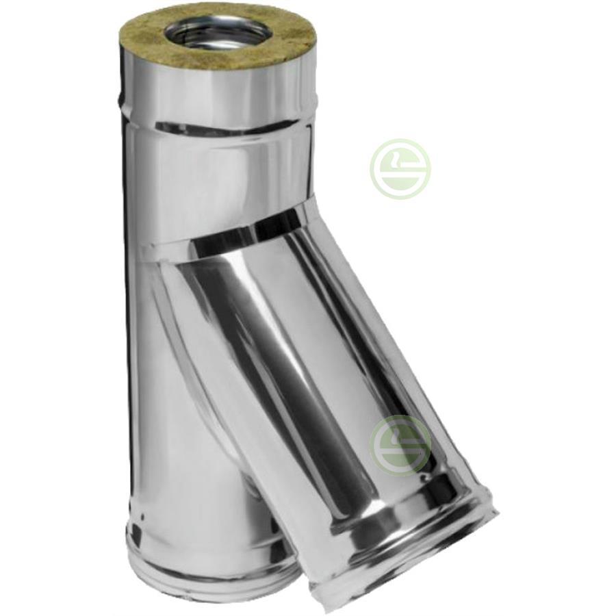 Дымоход феррум из 430 стали тройник с конденсатоотводом для дымохода 100 мм